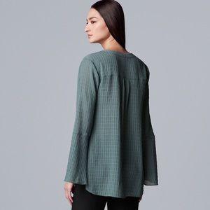 Vera Wang Tops - Vera Wang Bell Sleeve Henley NWT
